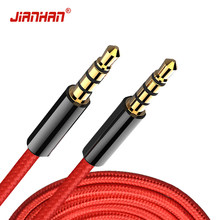 Jack 3.5 Audio Cable 3.5mm Speaker Line Aux Cable for Samsung galaxy s8 Car Headphone For Xiaomi redmi 4x Audio 4 Jack(China)