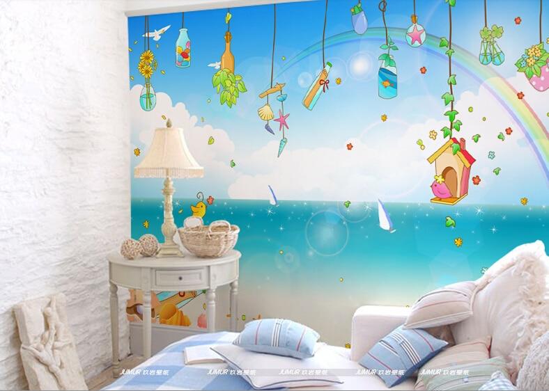 2015 nuevo 3d ni os murales de papel tapiz para los ni os for Papel decorativo pared infantil