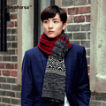 Fashion Winter Men Warm Acrylic Scarves Casual Patchwork Knitted Scarves High Quality Soft Neck Scarves for Women