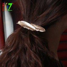 Fj4z новые модные богемные заколки для волос трендовые с листьями
