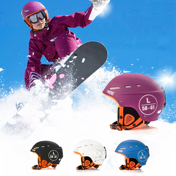 Gorąca sprzedaż Kask narciarski formowane integralnie kask narciarski dla dorosłych i dla dzieci śnieg kask narciarstwo Snowboard kask narciarski deskorolka tanie i dobre opinie Winter 14 lat Skiing Pół pokryte ski helmet L 58-61cm M 54-57cm Blue White Black Purple ABS Plastic outer shell +EPS Inner side+ Cotton