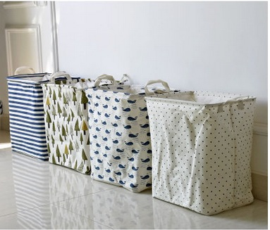 Cute Print Sundries Storage Boxes & Bins. Folding Clothes Storage Basket/ Laundry  Basket /