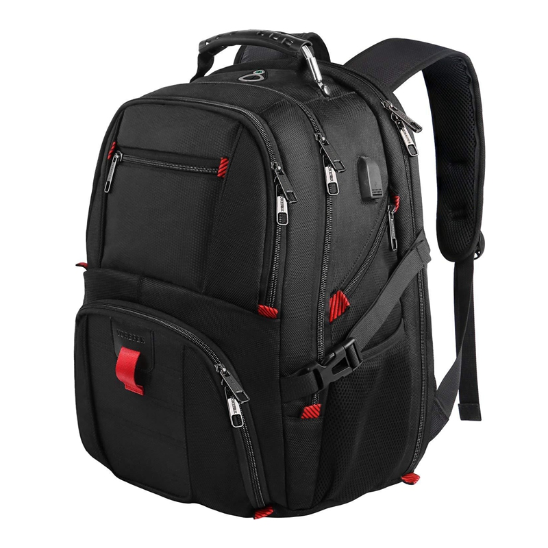 Men Multifunction 17 inch Laptop Backpack men Waterproof Large Capacity Multi-pocket High capacity Backpacks Casual Travel bag