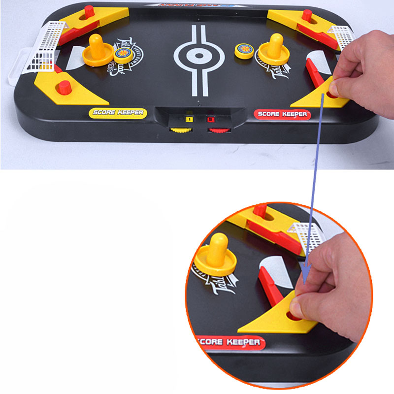 2 In 1 Mini Hockey Soccer Game Arcade Style Ice Hockey Table Play Family Interactive Sports Kids Fun Toy Gifts @ZJF