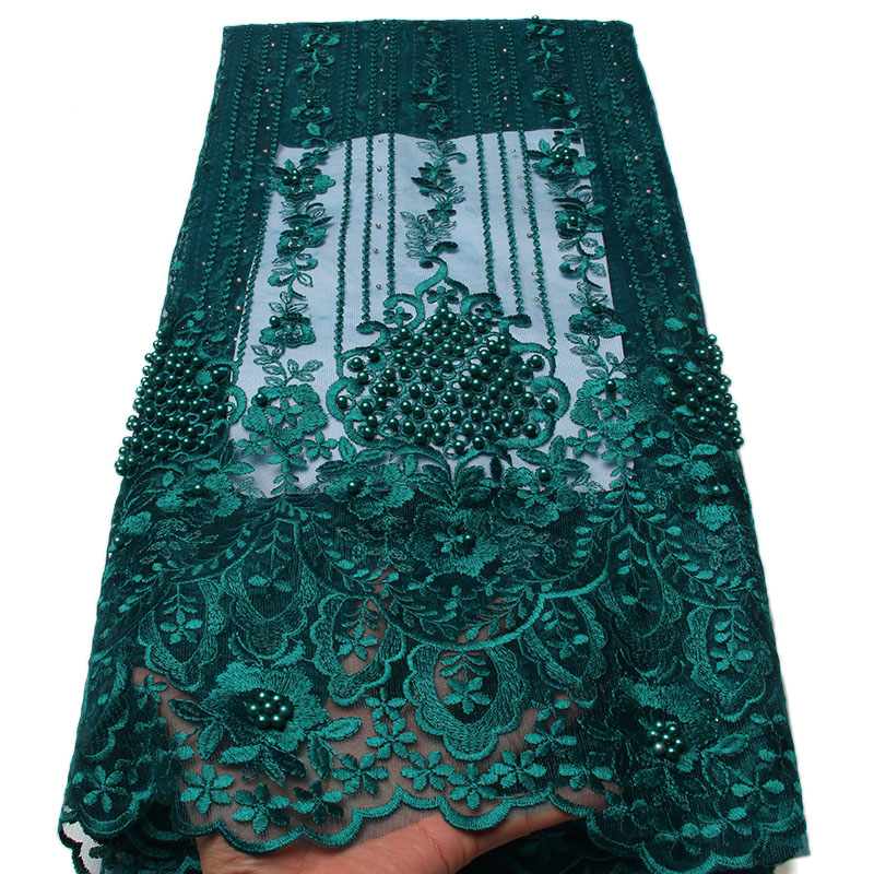 African Lace Fabric 2018 High Quality Nigerian Lace Fabrics Tissu Africain Guipure Embroidery French Tulle Lace