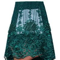 Африканская кружевная ткань 2018 высокого качества нигерийские кружевные ткани Африканский гипюр расшитый французский фатин кружевная ткан...