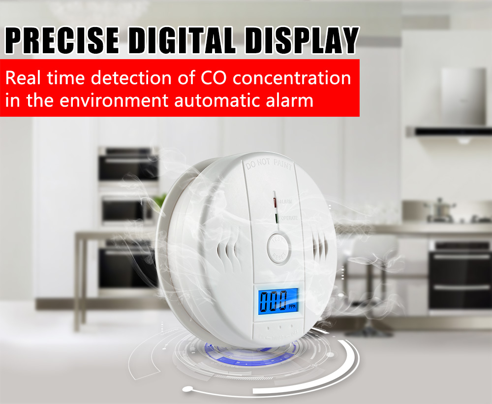 Fire Protection Security & Protection 100% True Lcd Photoelectric Carbon Monoxide Home Security Protection 85db Warning High Sensitive Independent Co Gas Sensor Detector Alarm Attractive Designs;