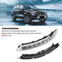 1 пара автомобилей дневного ходовые огни сигнала поворота двойного модель DRL светодио дный огни для Volvo XC90 07 08 09 10 11 12 13 автомобиль свет новый