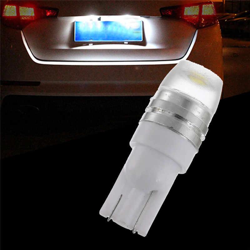 2019 Tahan Air Mobil License Plate Lampu Aksesoris Mobil Concave Lens 2SMD W5W T10 1W Silindris Kecil Kendaraan Pintu Lampu cahaya