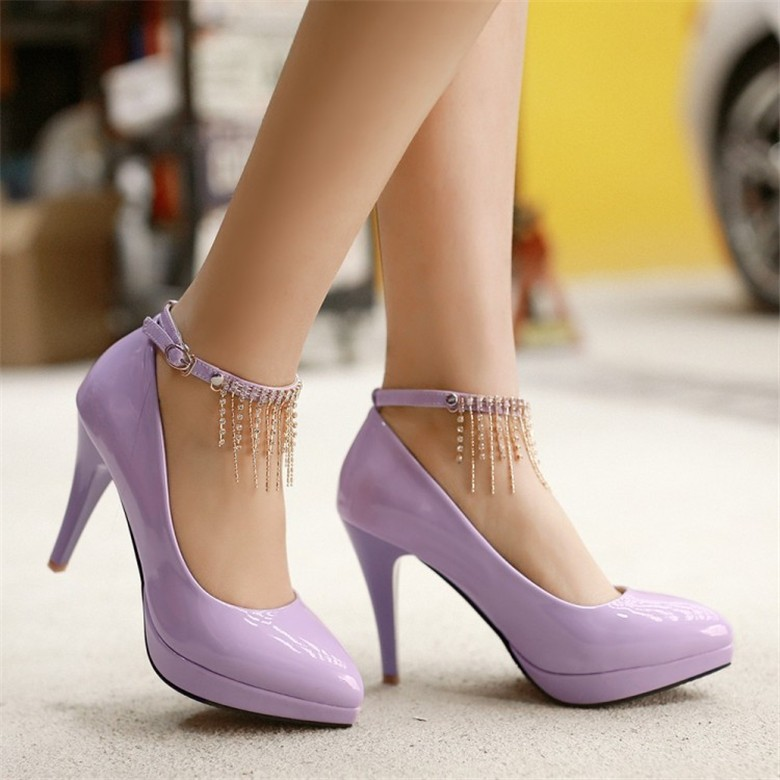 Wedding Shoes Ivory Shoes Woman High Heel <font><b>Nude</b></font> Pumps <font><b>Size</b></font> <font><b>11</b></font> Heels New Sexy Pumps Sapatos De Noiva Ankle Strap Heels Zapatos