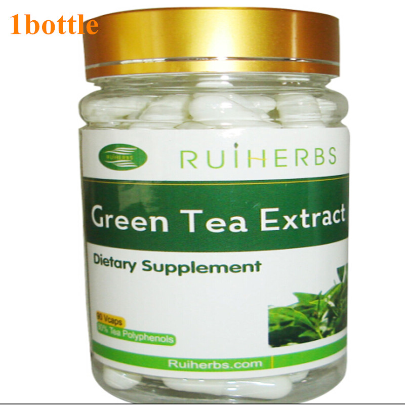 1Bottle Green Tea Extract 500mg x90Capsule 98% Total Polyphenols 50% EGCG for Weight Loss Antioxidant & Free Radical Scavenger free shipping good quality huangshan maofeng green tea healthy loss weight chinese green tea
