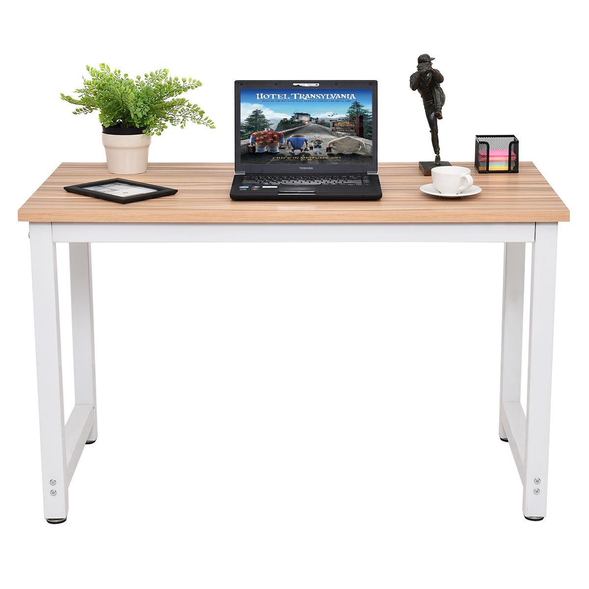 Giantex Wood Computer Desk PC Laptop Table Modern Console Tables ...