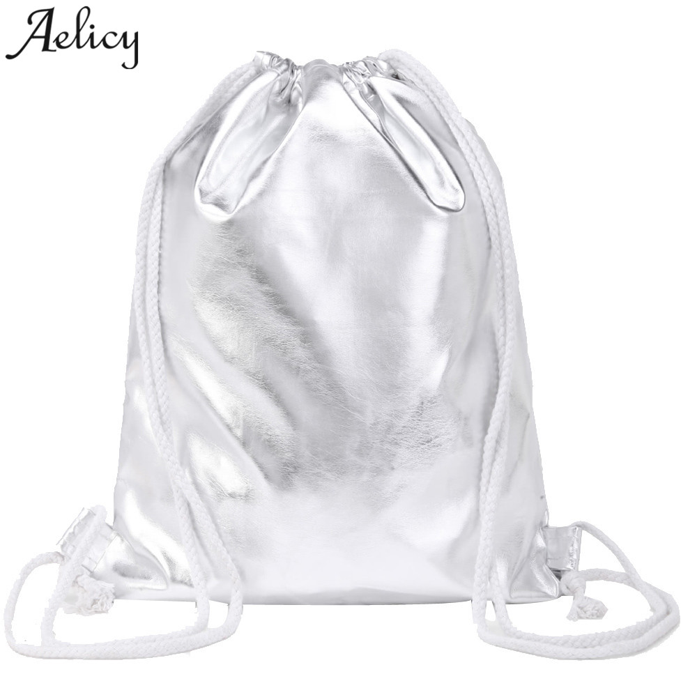 Aelicy 2018 Hot New Fashion Light High Quality Women Girls Fashion Solid Drawstring Backpack Tote Ladies Purse
