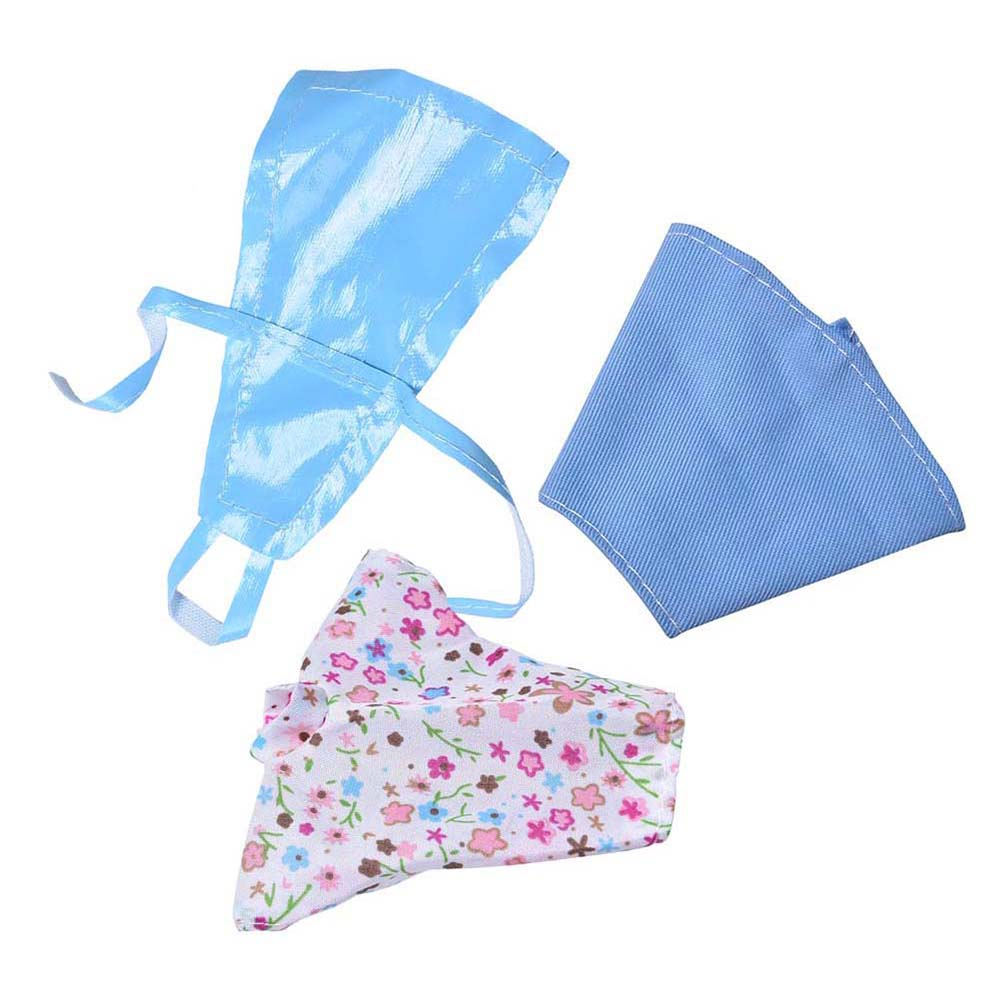 3Pcs/Set Pink Blue Cute Baby Clothes for Barbies Dolls with Apron Kitchen Suit Dolls Accessories Wholesale