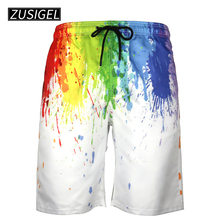 56be312ef57cc ZUSIGEL Men's Quick Dry Summer Trunks Printing Beach Board Shorts with Mesh  Lining Sportwear Pant Trouser