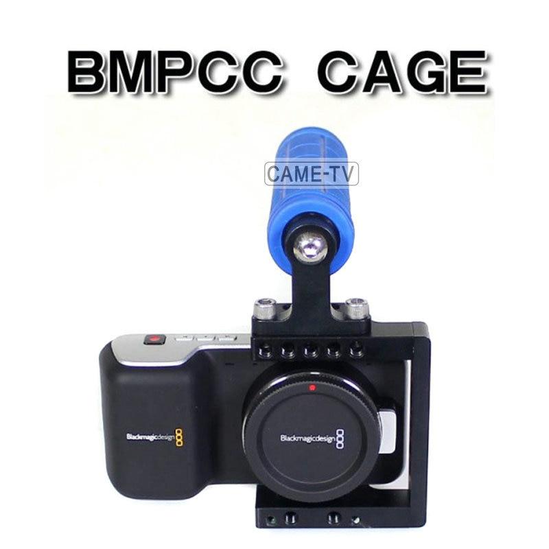 Compact BMPCC Armor Cage Rig with Top Handle BlackMagic Pocket Cinema Camera Kit