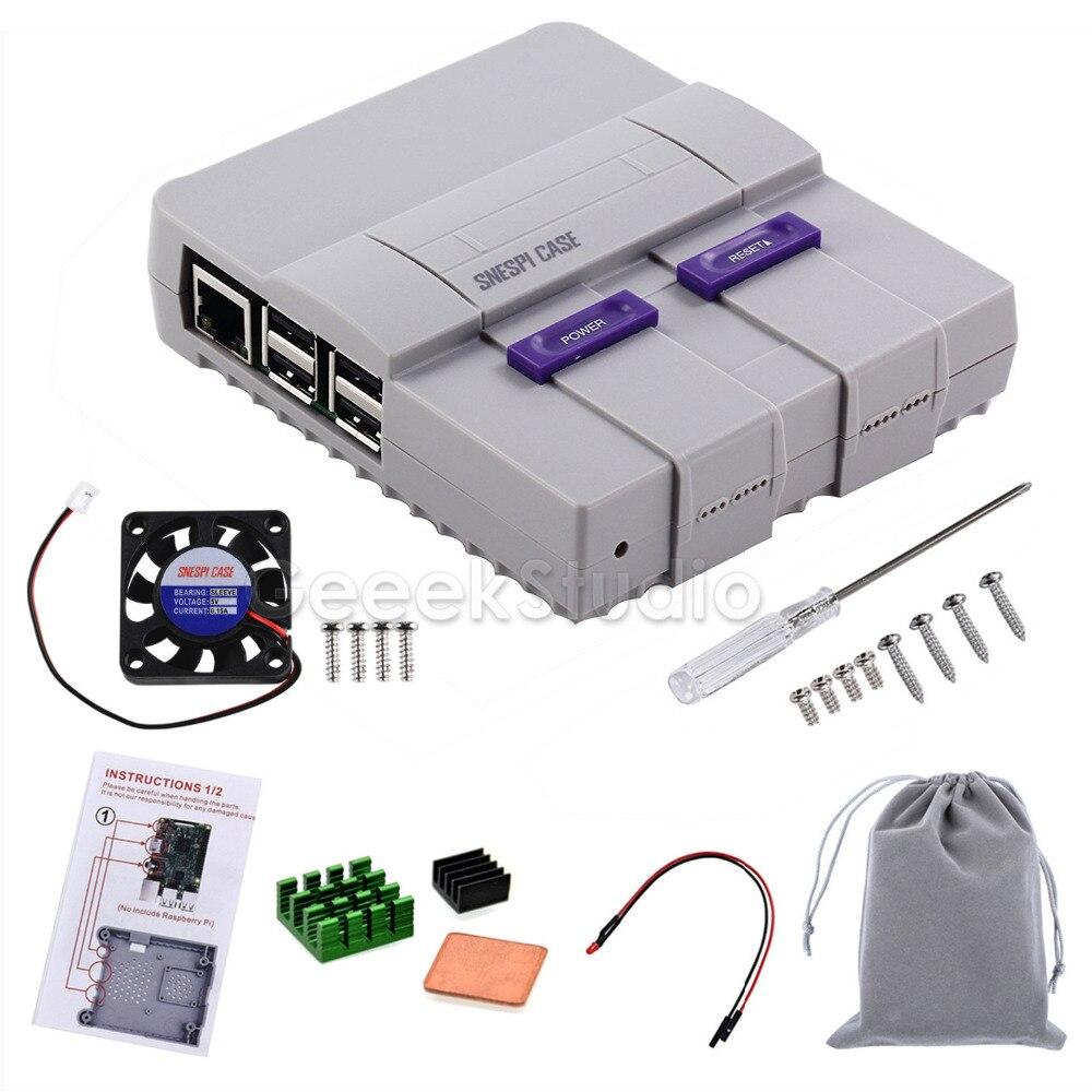 Original SNESPi Fall NES Stil NESPi Fall Gehäuse Kit mit Lüfter Kühlkörper Kompatibel mit Raspberry Pi 3/2 modell B