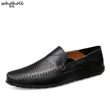 WHOHOLL Men Casual Shoes British Male Loafers Driving Doug High Quality Moccasins Slip-On Fashion Autumn Winter Footwear