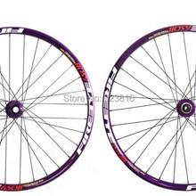 """Контактные линзы для 27.5er 27,"""" дюймовый 650B MTB горный велосипед колеса велосипеда анодированный фиолетовый цвет front15* 100 мм rear12* 142 мм фиолетовый цвет"""