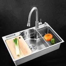 Multifuncional aço inoxidável Pia da cozinha única bacia acima do balcão ou udermount pias 1.2 milímetros de espessura escovado pias de cozinha
