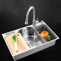 Kitchen Sink stainless steel Multifunctional single bowl above counter or udermount sinks 1.2mm thickness brushed sinks kitchen