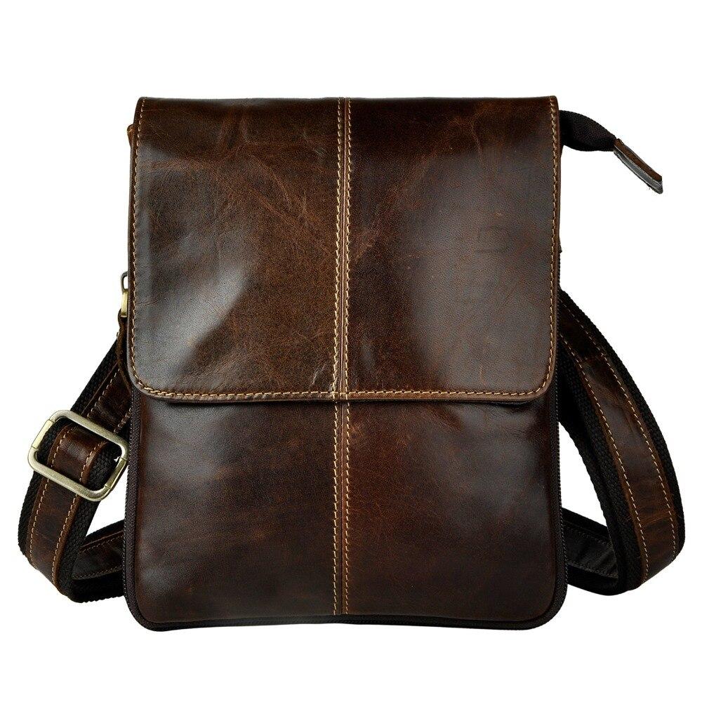 Real Leather Men Fashion Casual Small Slim Messenger Shoulder Crossbody Bag Design Waist Belt Pack Waist Phone Pouch 8713c elastic waist color block panel pouch design trunk