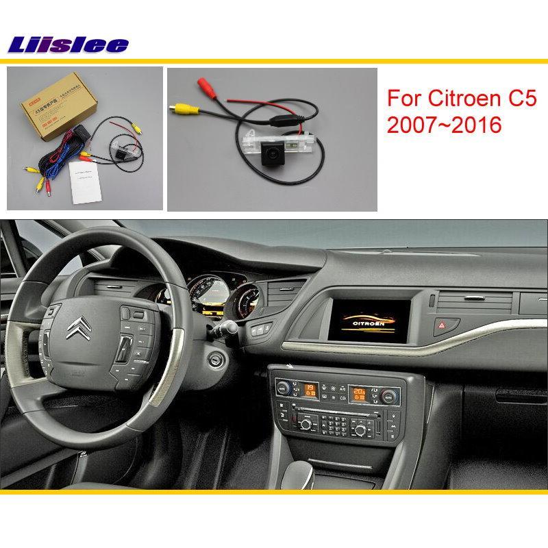 Liislee For Citroen C5 2007 2016 Original Screen Compatible Car Rear View font b Camera b