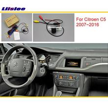 Liislee For Citroen C5 2007 2016 Original Screen Compatible Car Rear View font b Camera b