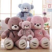Teddy panda plush toy doll hug bear pillow lovely girl birthday present toys for girls