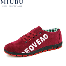 MIUBU 2019 New Fashion Canvas Shoes For Men Low Style Comfortable Denim Mens Lace up Flats Casual Man Summer