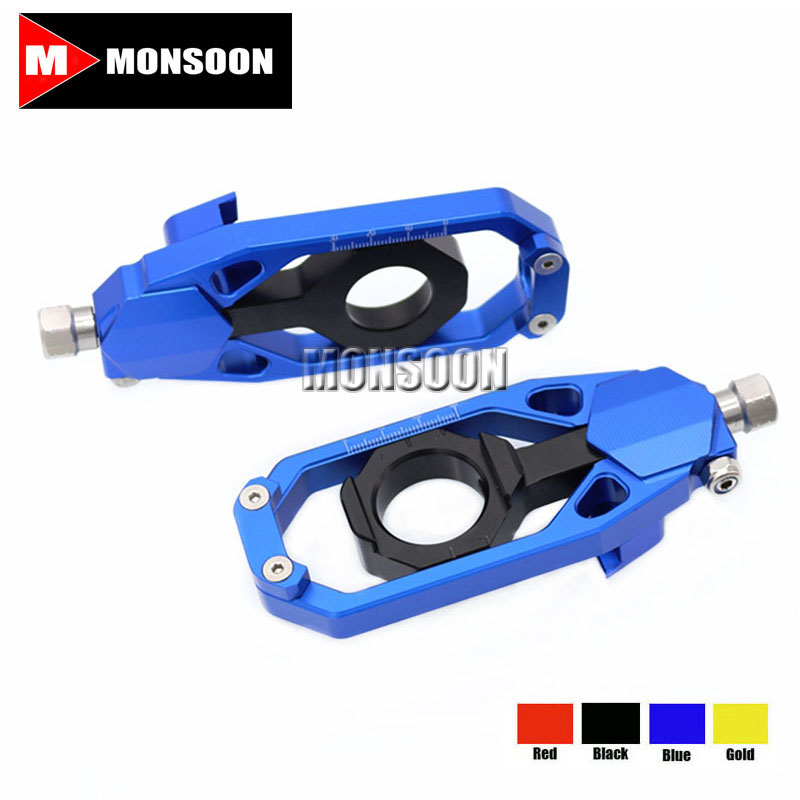 Free Shipping For YAMAHA TMAX 530 T-MAX530 2012-2014 Motorcycle Parts Tensioners Catena rear axle spindle chain adjuster Blue