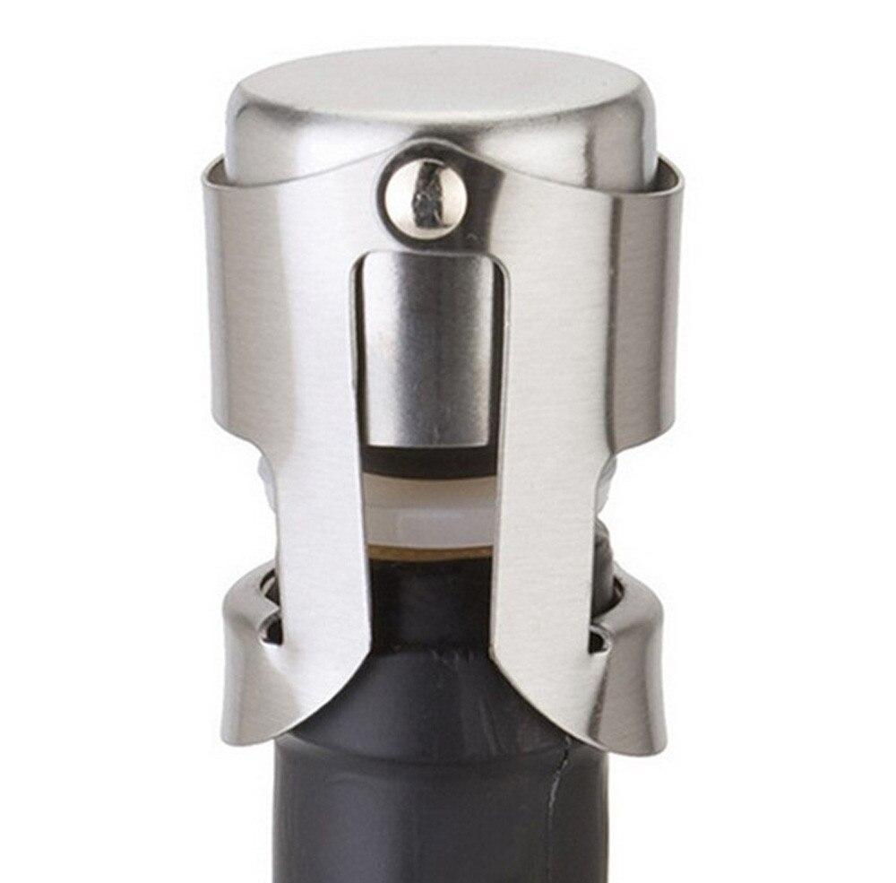1 St Draagbare Rvs Vergrendelingen En Siliconen Sealer Champagne Mousserende Wijn Fles Stopper Sealer Bar Wijn Plug