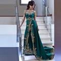 Пакистан Вечерние Платья Иллюзия Аппликации Из Бисера Африканских Платье Длинные Vestidos Де Феста Формальное dressZHP997