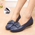 Plus Size(34-43) Women Genuine Leather Mother Flat Shoes Women Shoes 2017 Fashion Casual Work Shoes Women Flats
