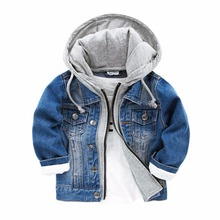 Baby Boys Jackets 2017 Spring Autumn Jacket For Infant Coat Kids Casual Jeans Outerwear Hoodie Coats Children Clothes
