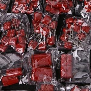 Image 5 - 200 Pcs 630V 0.001uf ~ 2.2uf CBB Condensatori a Film di Metallo Kit Assortimento di 25 Valori Z09 nave di Goccia