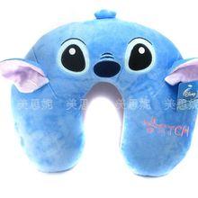 Супер милая плюшевая игрушка мультфильм Синий Ститч u-образная подушка мягкая подушка для защиты шеи подарок на день рождения Рождество 25 см