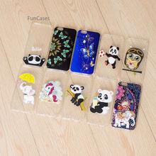 Panda encantadora caja del teléfono celular iPhone 6 suave TPU teléfono caso Hoesje Animal fundas Clips para el iPhone 6 s caso de mármol