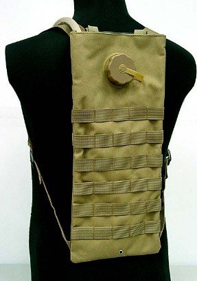 Molle sports water bag SWAT 3L Hydration Water Backpack Coyote Brown