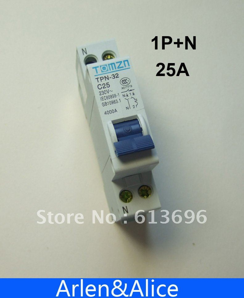 DPN 1P+N 25A Mini Circuit breaker MCB