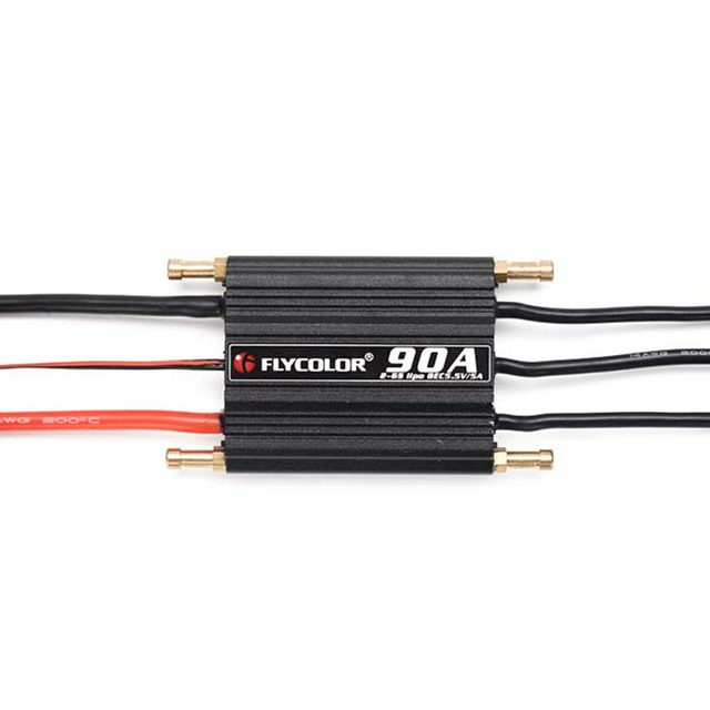 1pcs 50A/70A/90A/120A Water-cooled Brushless Waterproof ESC Electric Speed Controller 2-6S for RC Water-cooling System Jet Boats