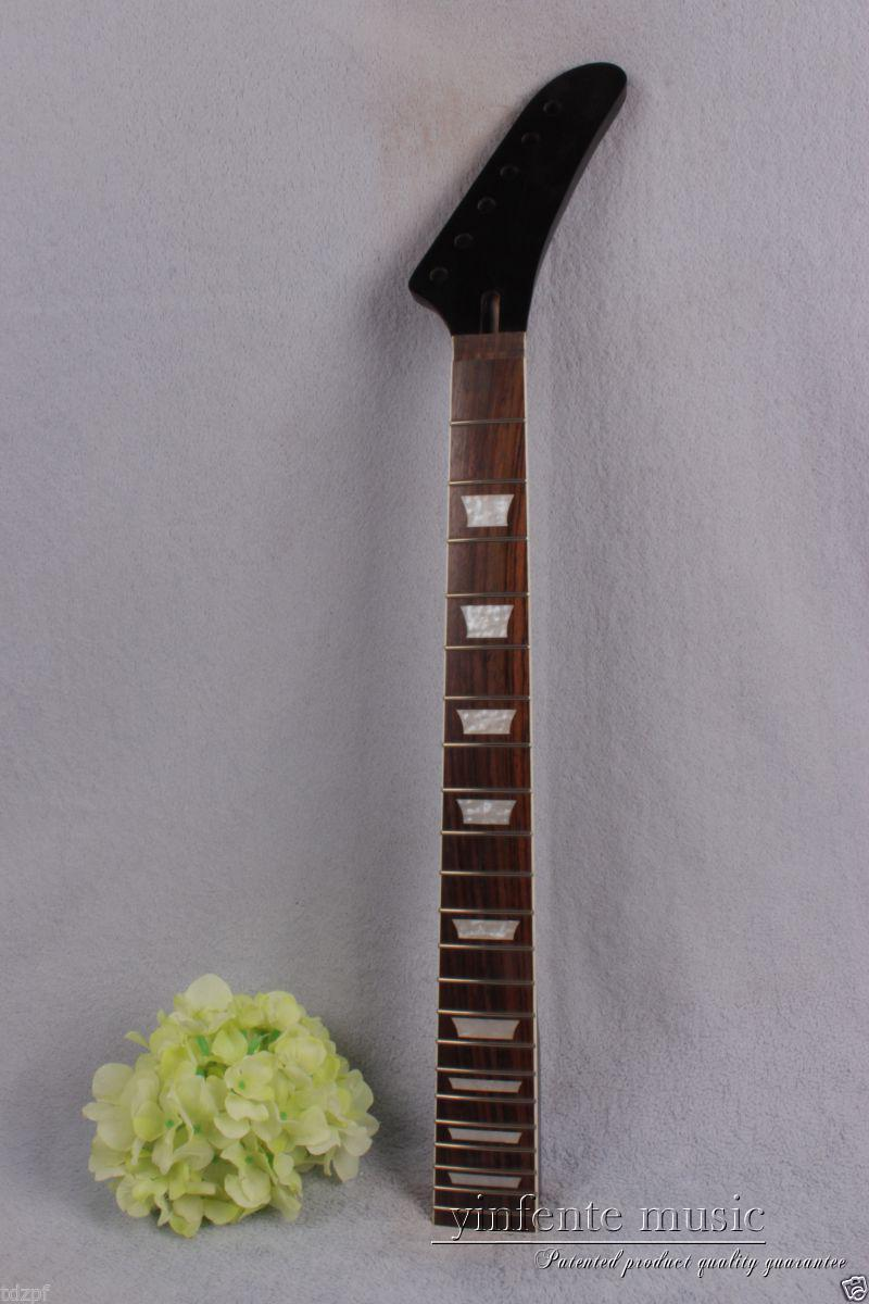 1pcs Electric guitar neck 22 fret 25.5'' rose Fretboard Truss Rod black New #891 new electric guitar neck maple 24 fret 25 5 truss rod unfinished no frets nice