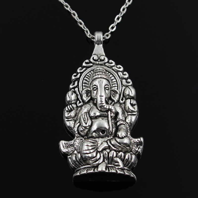 JewelryWe Mens Stainless Steel Vintage Buddha Sculpture Amulet Buddhism Prayer Pendant Necklace 22 Chain Christmas Decorations Ornaments Gifts