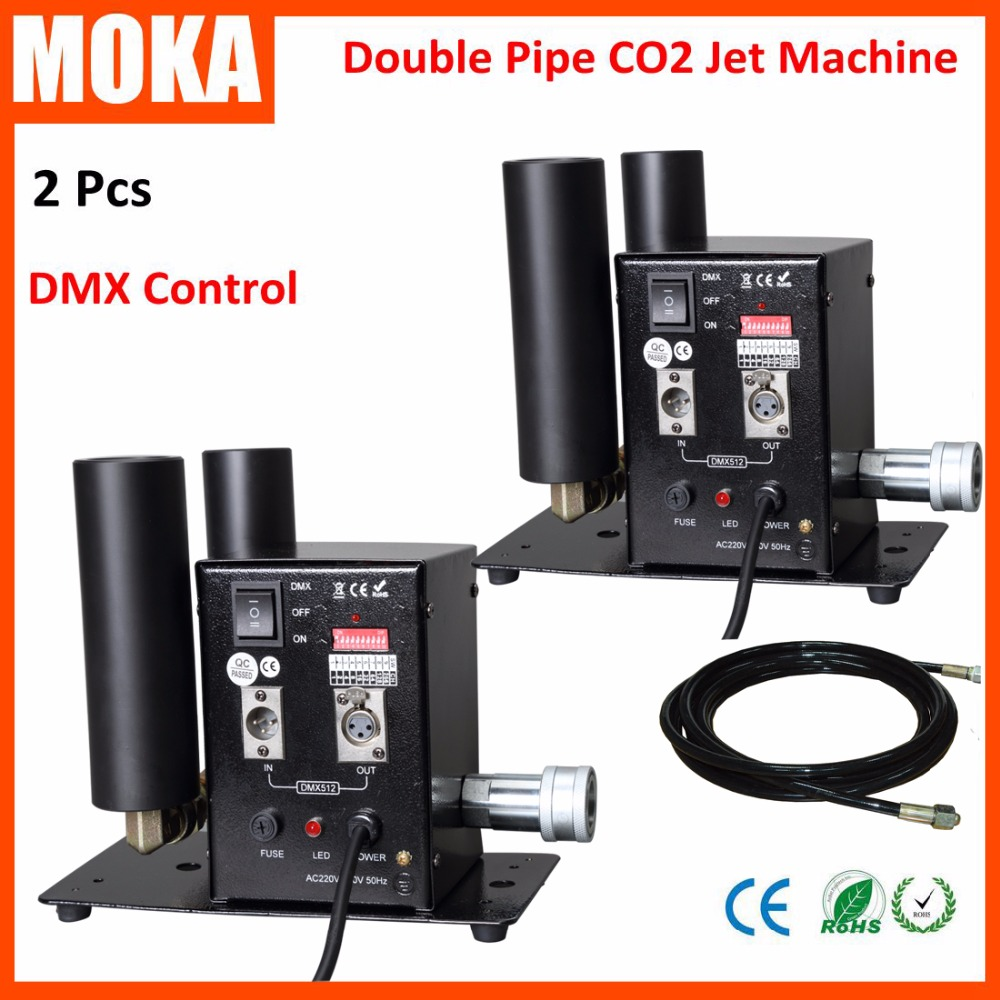2pcs lot HOT Double Pipe Cryo CO2 Jet Machine Cryo CO2 Cannon Machine For Event Party