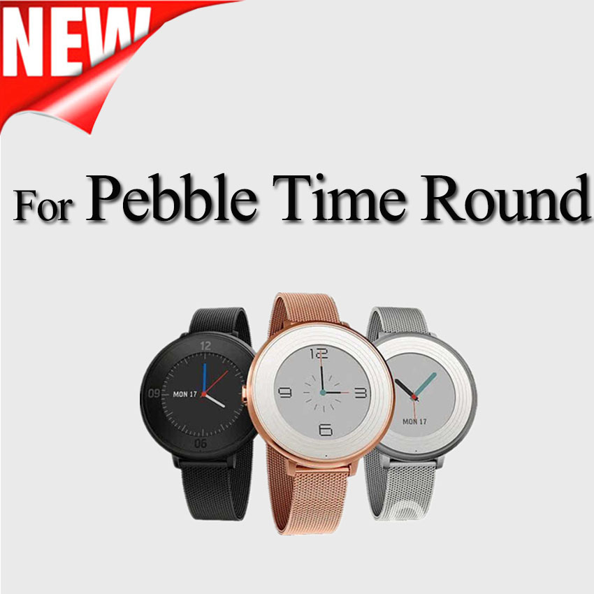 Stainless Steel Milanese Loop Metal Smart Watch Band for pebble time round watch Magetic Closure Milanese Band sport strap usb charging cable for pebble steel 2 smart watch black red