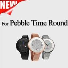 Acier inoxydable Milanese Boucle En Métal Smart Watch Bande pour pebble temps montre ronde Magetic Fermeture Milanese Bande sport bracelet