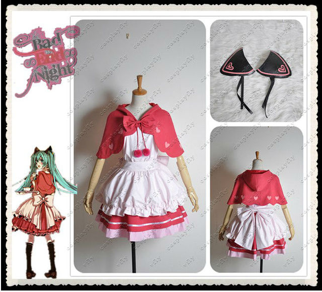 Vocaloid Kagamine Bad End Night Miku Cosplay Costume