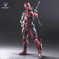 Deadpool Figuur Wolverine X Mannen X-MEN Play Arts Kai Deadpool Wade Winston Wilson Spelen Art KAI PVC Action Figure 26 cm Pop Speelgoed