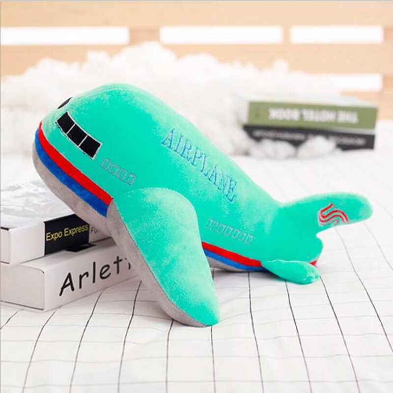 Nova 40 cm 50 cm 60 cm Tamanho Grande Simulação Aeronave Avião Brinquedos de Pelúcia Crianças Dormindo Coxim Traseiro Macio Recheado bonecas de travesseiro Presente