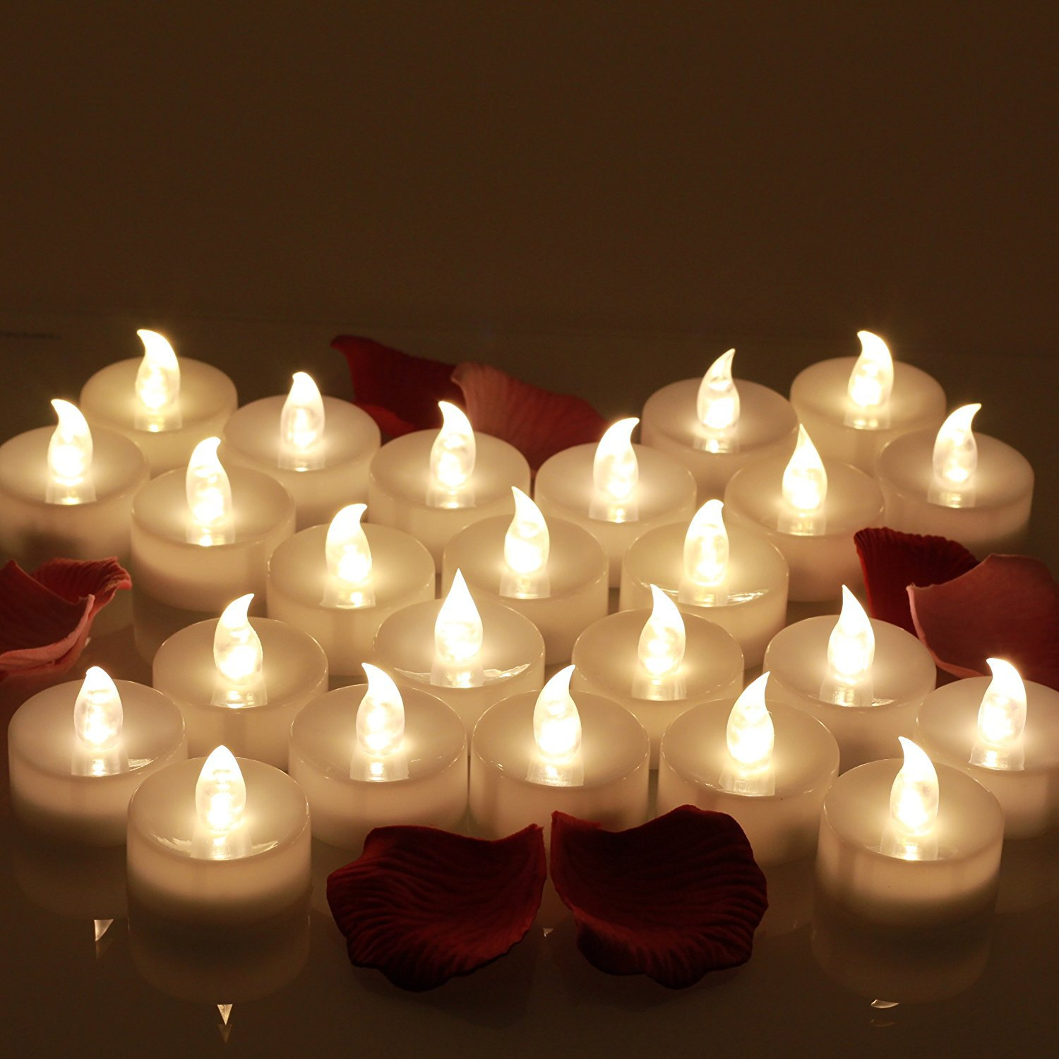 Realistic Bright Flameless Led Tea Light Candles 12 Pcs/pcsk Flickering Flameless Tea Light Battery Operated Candles For Party An Enriches And Nutrient For The Liver And Kidney Home Decor Home & Garden